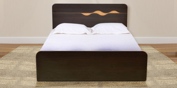 Swirl Queen Bed by Hometown at pepperfry