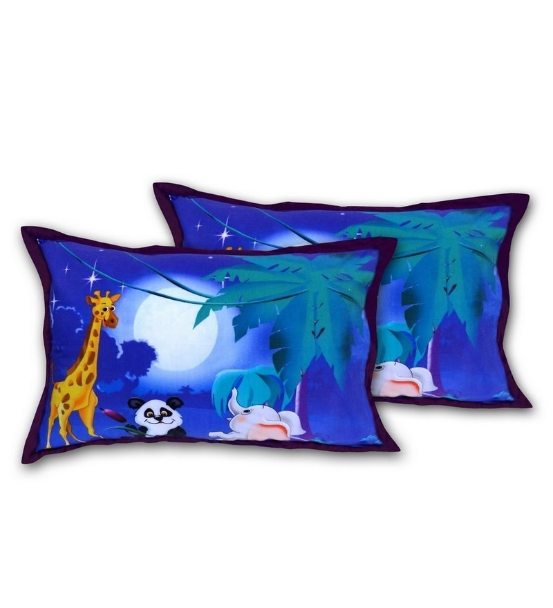 Digital Night Print Cotton Pillow Cover by Swayam
