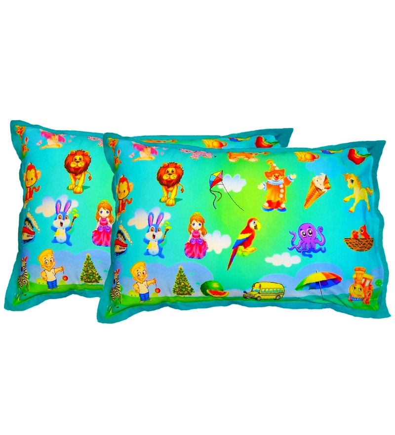Digital Print Kids Pillow Cover 1 Pcs by Swayam