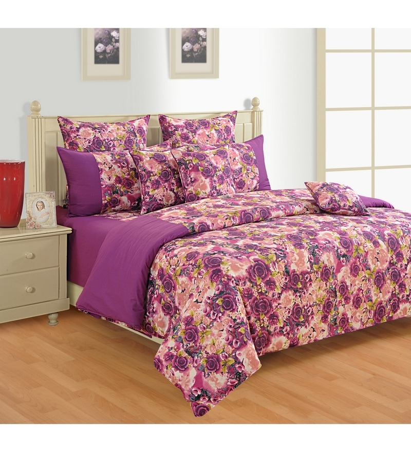 Magenta Cotton Bed sheet - Set of 2 by Swayam
