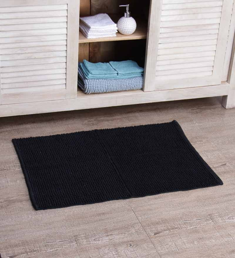 Jumbo Bath Mat Black by SWHF