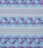 Blue Cotton Queen Size Bed Sheet with 2 Pillow Covers by Swastika