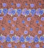 Swastika Brown & Blue Cotton Queen Size Bed Sheet with 2 Pillow Covers