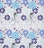 Light Blue Cotton Queen Size Bed Sheet - Set of 3 by Swastika