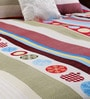 Swhf Multicolour Geometric Patterns Cotton Queen Size Bed Sheets - Set of 3