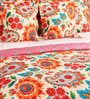 Orange Cotton Queen Size Comforter - Set of 5 by SWHF