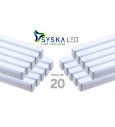 Syska 18 Watts T5 LED Tube Light (Pack Of 20, Cool Day Light)