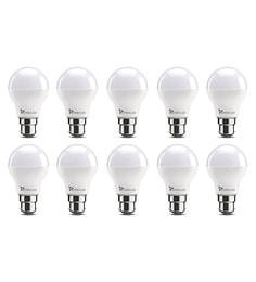 Syska B22 9-Watt LED Bulb (Pack Of 10, Warm White/Yellow )