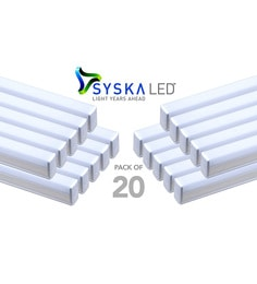 Syska 18 Watts T5 LED Tube Light (Pack Of 20, Warm White/Yellow )