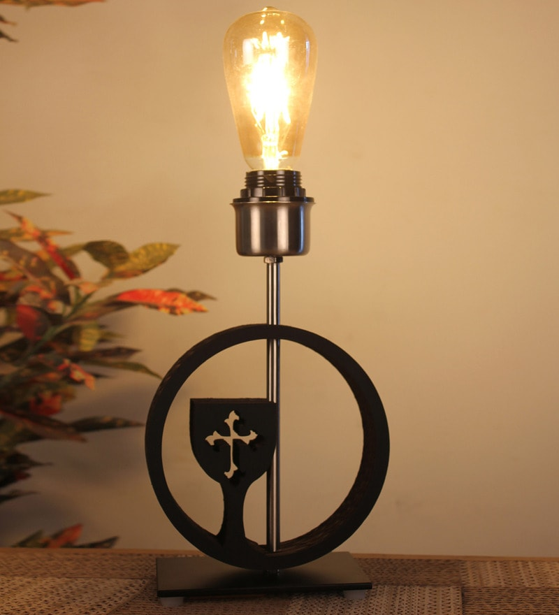 Black Glass Holy Grail Table Lamp by Sylvn Studio