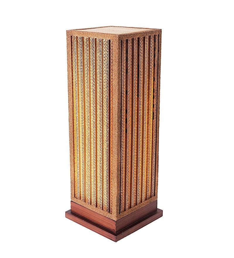 Buy brown linen mica floor lamp by orange tree online brown corrugated board fosse floor lamp by sylvn studio aloadofball Image collections