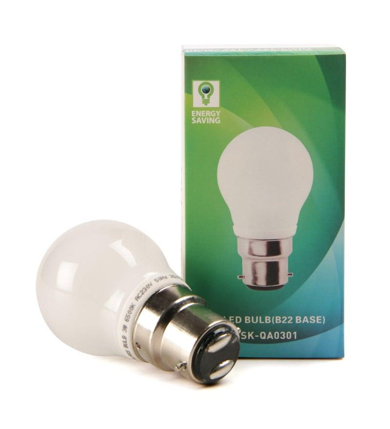Buy Syska Yellow Polycarbonate And Glass 3 W Led Bulb
