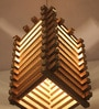Brown Corrugated Cardboard Trellis Pendent by Sylvn Studio