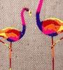 Brown Corrugated Cardboard Flamingo Lamp Pendent by Sylvn Studio
