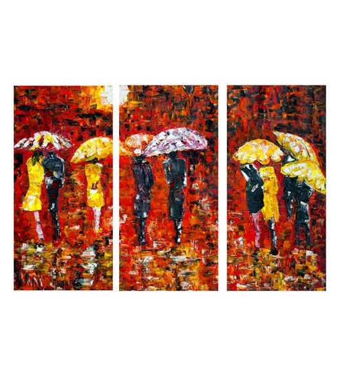 Buy Canvas 36 X 05 X 24 Inch Painting Umbrellas Premium Quality