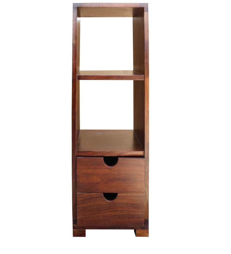 Tahoe Display Unit cum Book Shelf with Two Drawers in Brown Colour by InLiving