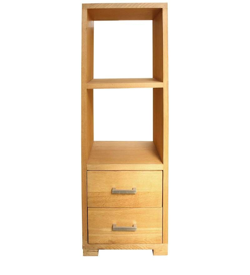 Tahoe Display Unit with Two Drawers in Natural Wood Finish by InLiving