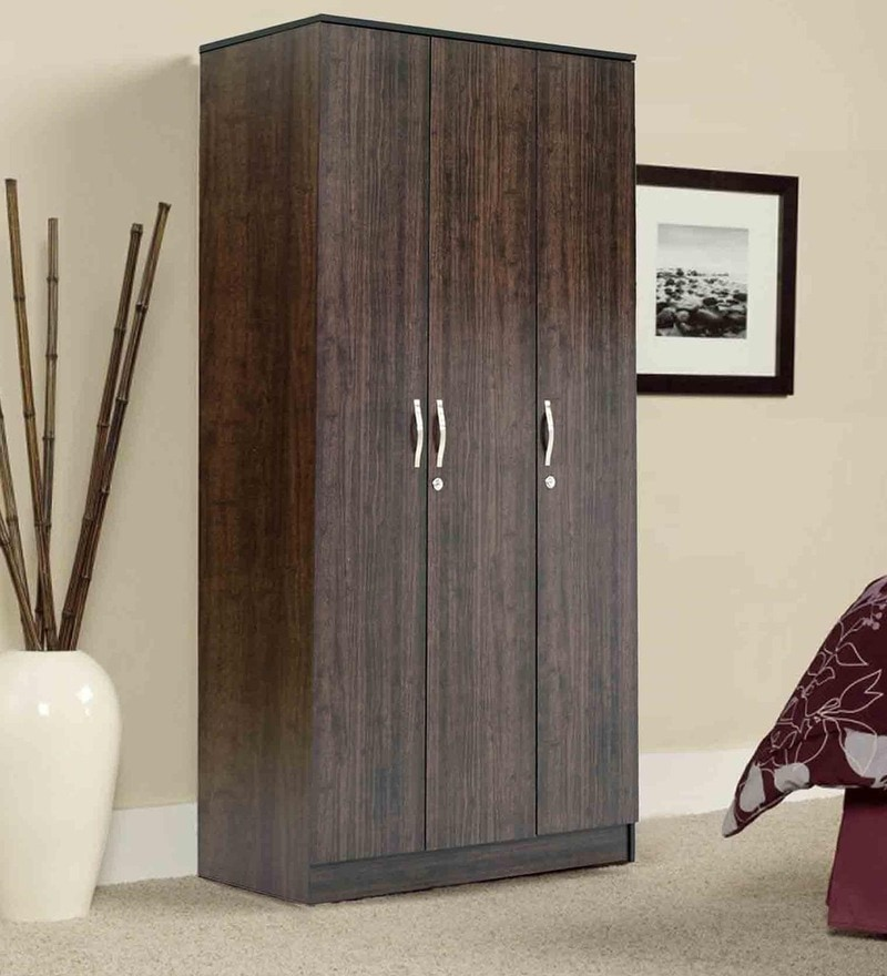 Takuma Three Door Wardrobe in Wenge Finish by Mintwud