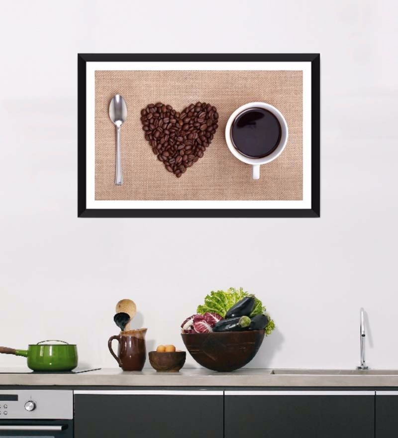 Photographic Paper 18 x 1 x 12 Inch Art For Kitchen Love Of My Life Framed Digital Art Print by Tallenge