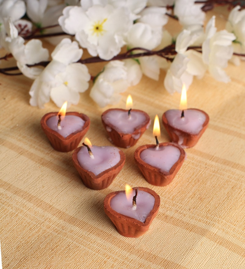 Brown Diya - Set of 10 by Tanariri Hastakala