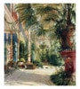 Tallenge Canvas 43 x 1 x 49 Inch The Interior of The Palm House by Carl Blechen Framed Large Digital Art Print