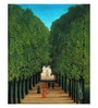 Canvas 43 x 1 x 52 Inch The Avenue in The Park At Saint Cloud Art by Henri Rousseau Framed Large Digital Art Print by Tallenge