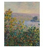 Canvas 43 x 1 x 55 Inch Flower Beds At Vetheuil by Claude Monet Framed Large Digital Art Print by Tallenge