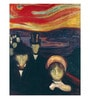 Tallenge Canvas 43 x 1 x 56 Inch Anxiety by Edvard Munch Framed Large Digital Art Print