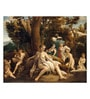 Canvas 54 x 1 x 43 Inch Leda & The Swan by Antonio Allegri Da Correggio Framed Large Digital Art Print by Tallenge
