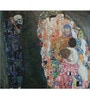 Tallenge Gallery Wrap Canvas 18 x 18 Inch Old Masters Collection Death & Life by Gustav Klimts Framed Digital Art Prints