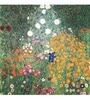 Tallenge Gallery Wrap Canvas 18 x 18 Inch Old Masters Collection Flower Garden by Gustav Klimts Framed Digital Art Prints