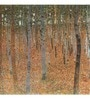 Tallenge Gallery Wrap Canvas 18 x 18 Inch Old Masters Collection Forest of Beech Trees by Gustav Klimts Framed Digital Art Prints