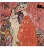 Tallenge Gallery Wrap Canvas 18 x 18 Inch Old Masters Collection Girlfriends Or Two Women Friends by Gustav Klimts Framed Digital Art Prints