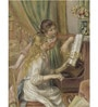 Tallenge Gallery Wrap Canvas 18 x 24 Inch Old Masters Collection Girls At The Piano by Pierre-Auguste Renoirs Framed Digital Art Prints