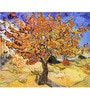 Tallenge Gallery Wrap Canvas 18 x 24 Inch Old Masters Collection Mulberry Tree by Vincent Van Goghs Framed Digital Art Prints