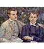 Tallenge Gallery Wrap Canvas 18 x 24 Inch Old Masters Portrait of Charles & Georges Durand-Ruel by Pierre-Auguste Renoirs Framed Digital Art Print