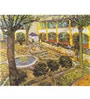 Tallenge Gallery Wrap Canvas 18 x 24 Inch Old Masters Collection The Asylum Garden At Arles by Vincent Van Goghs Framed Digital Art Prints