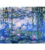 Tallenge Gallery Wrap Canvas 18 x 24 Inch Old Masters Collection Waterlilies by Claude Monet Framed Digital Art Prints