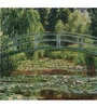 Tallenge Photographic Paper 18 x 18 Inch Old Masters Collection The Japanese Footbridge, Giverny by Claude Monet Framed Digital Art Prints