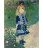 Tallenge Photographic Paper 18 x 24 Inch Old Masters Collection A Girl with A Watering Can by Pierre-Auguste Renoirs Framed Digital Art Prints