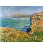 Tallenge Photographic Paper 18 x 24 Inch Old Masters Collection Cliffs At Varengeville by Claude Monet Framed Digital Art Prints