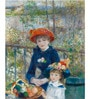 Tallenge Photographic Paper 18 x 24 Inch Old Masters Collection Two Sisters, Or on The Terrace by Pierre-Auguste Renoirs Framed Digital Art Prints
