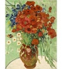 Tallenge Photographic Paper 18 x 24 Inch Old Masters Collection Vase with Daisies & Poppies by Vincent Van Goghs Framed Digital Art Prints