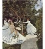 Tallenge Photographic Paper 18 x 24 Inch Old Masters Collection Women In The Garden by Claude Monet Framed Digital Art Prints