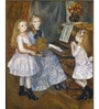 Tallenge Rolled Canvas 36 x 48 Inch Old Masters Collection The Daughters of Catulle Mendes by Pierre-Auguste Renoir Unframed Digital Art Prints