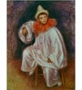 Tallenge Rolled Canvas 36 x 48 Inch Old Masters Collection White Pierrot by Pierre-Auguste Renoir Unframed Digital Art Prints