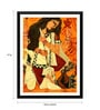 Tallenge Paper 12 x 0.5 x 17 Inch Contemporary Indian Art Durga Framed Digital Poster