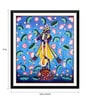 Paper 12 x 0.5 x 17 Inch Krishna Playing Flute Painting Framed Digital Poster by Tallenge