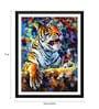 Tallenge Paper 12 x 0.5 x 17 Inch Majestic Tiger Framed Digital Poster