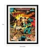 Paper 12 x 0.5 x 17 Inch Vintage Comic Cover Muhammad Ali Vs Superman Framed Digital Poster by Tallenge